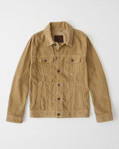 Abercrombie&Fitch (アバクロンビー&フィッチ) コーデュロイジャケット(長袖)(Corduroy Trucker Jacket) メンズ (Light Brown) 新品