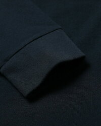 Abercrombie&Fitch(アバクロンビー&フィッチ)正規品ヘビーウェイトフロッキープリント長袖Tシャツ(ロンT)(Long-SleeveHeavyweightLogoTee)メンズ(NavyBlue)新品