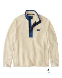 【新品】アバクロ【Mensメンズ】ハーフジップフリースジャケット/Cream【SherpaHalf-ZipSweatshirt】【Abercrombie&Fitch】【本物保証】