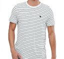 【新品】アバクロ【Mensメンズ】クルーネックボーダーTシャツ(半袖)/Navy Stripe【Crew Neck Icon Stripe T-shirt】【Abercrombie&Fitch】【本物保証】