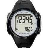 山佐時計計器(YAMASA) 電波時計内蔵腕時計型 ウォッチ万歩計 DEMPA MANPO<ブラック×シルバー> TM-500 555021