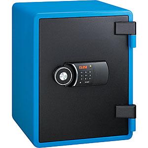 【据付設置費無料】EIKO(エーコー)耐火金庫<テンキー>YES(イエス・カラーセーフ)ブルー YES-031DBL 800066
