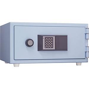 日本アイ・エス・ケイ 耐火金庫<テンキー>おしゃれ金庫 スカイブルー CPS-30T-SB 112844