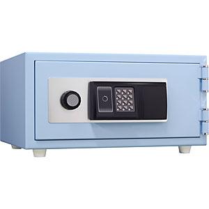 日本アイ・エス・ケイ 耐火金庫<ICカード(FeliCa・MIFARE対応)>おしゃれ金庫 スカイブルー CPS-30IC-SB 112943