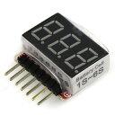 リポバッテリー チェッカー  1セル(3.7V)〜6セル(22.2V)用 【送料無料】