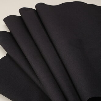 Plain silk black cut sale