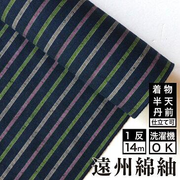 遠州綿紬 S-23 -花野(はなの)-綿 着物 洗える着物 大人可愛い おしゃれな きれいめ