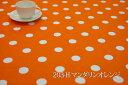 アウトレット特価!「在庫限り」特価品!オックスプリント 水玉28ミリ 【色:マンダリンオレ...