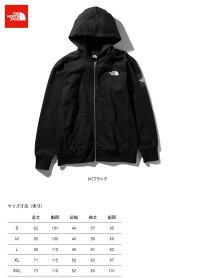 ノースフェイススクエアロゴフルジップメンズNT11952(K)ブラック