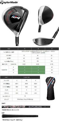 テーラーメイドM4フェアウェイウッド日本仕様FUBUKITM5カーボンシャフト