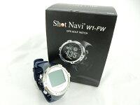 ショットナビ2014腕時計型GPSゴルフナビW1-FWブラックホワイトネイビー[shotnaviwatchGPSゴルフナビゲーション]
