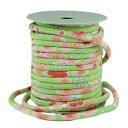 布がたり・ちりめん和柄生地と手芸で買える「ちりめん丸ひも・柄・4ミリ(実寸約5-6ミリ) 春爛漫・黄緑【RCP】」の画像です。価格は35円になります。