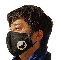 冬物フリースマスクYATAGARASU(黒)#和歌山県,世界遺産熊野古道,八咫烏,やたがらす,ご当地マスク,あったかフリース素材