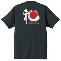 和歌山和柄Tシャツ半袖ブラック背側