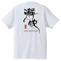 瀞峡和柄Tシャツ半袖ホワイト背側
