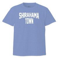 和歌山南紀SHIRAHAMA-TOWNTシャツ半袖:ミックスブルー