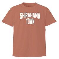 和歌山南紀SHIRAHAMA-TOWNTシャツ半袖:ミックスレッド