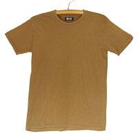 熊野番茶染め国産コーマ糸Tシャツ半袖無地銅×鉄媒染