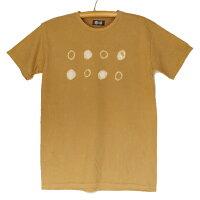 紀州熊野番茶染めコーマ糸国産Tシャツ半袖御浜小石絞り柄銅媒染