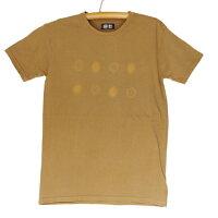紀州熊野番茶染めコーマ糸国産Tシャツ半袖御浜小石絞り柄銅×鉄媒染