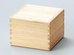 和食器 木製 白木塗 5.0寸 二段重箱 越前漆器 内朱 2段重箱 越前塗り【おしゃれ かわいい 】【ギフト】【楽ギフ_包装選択】【楽ギフ_のし】【楽ギフ_のし宛書】