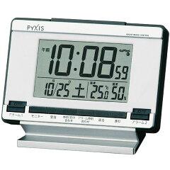セイコー SEIKO ピクシス 目覚まし時計 置き時計 NR529S デジタル 電波時計 カレンダー 温度計 湿度計 【楽ギフ_包装】 【楽ギフ_のし宛書】 【楽ギフ_名入れ】