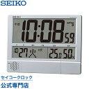 SEIKOギフト包装無料 セイコークロック SEIKO 掛け時計 壁掛け 電波時計 置き時計 SQ434S デジタル 大表示 カレンダー プログラム メロディ 温度計 湿度計 音量調節 おしゃれ あす楽対応 送料無料【ギフト】