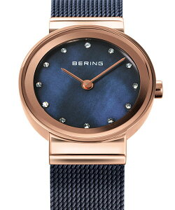 ベーリングBERINGレディース腕時計10126-367EarthNavyクラシックカービングメッシュスワロフスキーSS+IPメッシュベルト|腕時計腕時計ギフト腕時計【正規品】【送料無料】