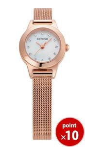 ベーリングBERINGレディース腕時計11119-366NostalgiaクラシックカービングメッシュスワロフスキーSSメッシュベルト【あす楽対応】【正規品】【送料無料】【楽ギフ_包装】