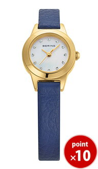 11,119-633 Bering BERING Lady's watch Nostalgia classical music calf-leather Swarovski leather belts