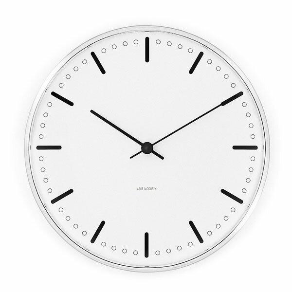 アルネヤコブセン 壁掛け時計 シティーホール クロック City Hall Clock ホワイト 29センチ 43641 【正規品】  【あす楽対応】:NUTS(時計&デザイン雑貨)