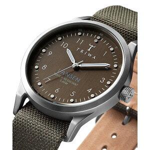 トリワTRIWAメンズ・レディース兼用腕時計LANSENPARTISANLAST111-MO063212ブラウン×シルバー×グリーンレザーベルト【正規品】【送料無料】【_包装】