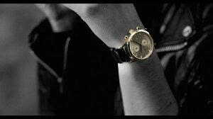 トリワTRIWAメンズ・レディース兼用腕時計LANSENCHRONOクロノグラフSORTofBLACKGOLDLCST109-ME021313ゴールドメタルメッシュ&レザーベルト2本セット【あす楽対応】【正規品】【送料無料】