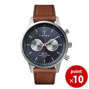 トリワTRIWAメンズ・レディース兼用腕時計クロノグラフSTEELNEVILBLUESTEELNEST1082-SC010216ブルー×シルバーブラウンレザーベルト正規品送料無料|腕時計革レザー腕時計