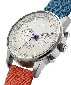 トリワTRIWAメンズ・レディース兼用腕時計クロノグラフSTEELNEVILIVORYYANKEECANVASCLASSICNEST112-CL062612アイボリー×ブルー×オレンジレザーベルト正規品送料無料腕時計おしゃれ革レザー腕時計