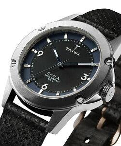 トリワTRIWAレディース腕時計SKALARAVENSKST106-CD010112ブラックオーガニックレザーベルト【正規品】【送料無料】