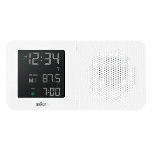ブラウン BRAUN 目覚まし時計 置き時計 BNC010WH-RC AM・FMラジオ 電波修正 デジタル アラーム ホワイト 幅18cm 【あす楽対応】 【正規品】