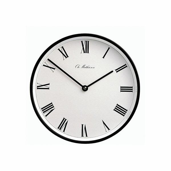 オーレ・マティーセン Ole Mathiesen 掛け時計 クロック OM1B_W_R2 ローマン 径21.5cm ブラック枠 デンマーク王室御用達 【正規品】:NUTS(時計&デザイン雑貨)