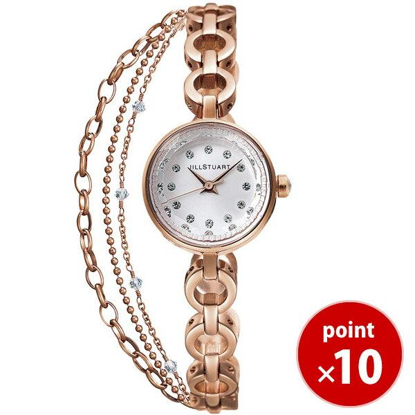 a2c71eb198 ジルスチュアート JILLSTUART TIME 時計 腕時計 お得なダブルチェーン ウォッチ ピンクゴールド SILDR004 正規品 送料無料 レディース  あす楽対応