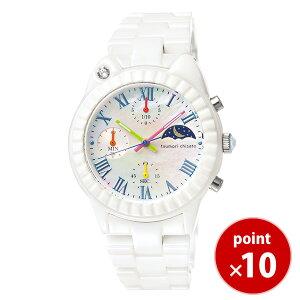 ツモリチサトtsumorichisatoレディース腕時計うでどけいウォッチホワイトキャット!whitecat!シロクマセラミックホワイトセラミックセラミックベルトクロノグラフNTAR002【正規品】【送料無料】