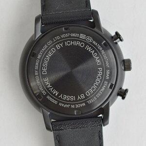 【10月8日より順次発送予定】イッセイミヤケISSEYMIYAKECシィ岩崎一郎クロノグラフブラックダイヤルブラックレザーベルトブラックIPケースメンズレディース腕時計ウォッチカレンダーNYAD007黒正規品送料無料