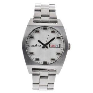 【送料無料】コプハcophaメンズ腕時計Kult-1401【カルトKult】デイデイトメタルベルトホワイトXシルバー