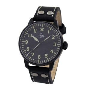 【送料無料】ラコLACOパイロットウォッチAltenburgアルテンブルグ861759メンズドイツ製機械式自動巻き腕時計径42mmブラックレザーベルト