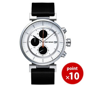【送料無料】イッセイミヤケISSEYMIYAKEメンズ腕時計SILAY003和田智Wダブリュカレンダークロノグラフレザーベルト