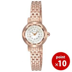 【送料無料】ジルスチュアートJILLSTUARTTIME時計腕時計ringカットガラス・ブレスレットモデル・ラグジュアリーラインピンクゴールド×クリアスワロフスキーSILDA004
