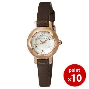 【送料無料】ジルスチュアートJILLSTUARTTIME時計腕時計ringリングカットガラスピンクゴールド×ダークブラウン革ベルトSILDB006