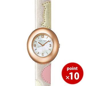 【最新作限定モデル】ツモリチサトtsumorichisatoレディースハッピーストーン10周年記念モデル腕時計ライトピンクゴールドレザーベルトNTBA702【正規品】【送料無料】