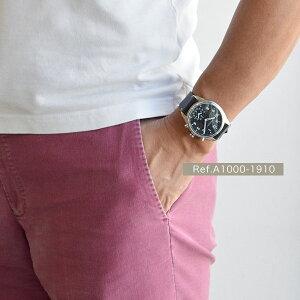 クロナビーKRONABYアペックスAPEX腕時計【43mm】スマートウォッチメンズA1000-1910ブラックダイヤル×シルバーケースブラックレザーベルト|北欧時計紳士用スウェーデンブランド【正規品】【送料無料】【あす楽対応】