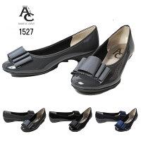 【あす楽】ACneuearhe1527ワイズ3Eリボンパンプスレディース靴