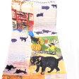Manhattaner's マンハッタナーズ ウールストール「NY猫絵暦10月と11月」【楽ギフ_包装】